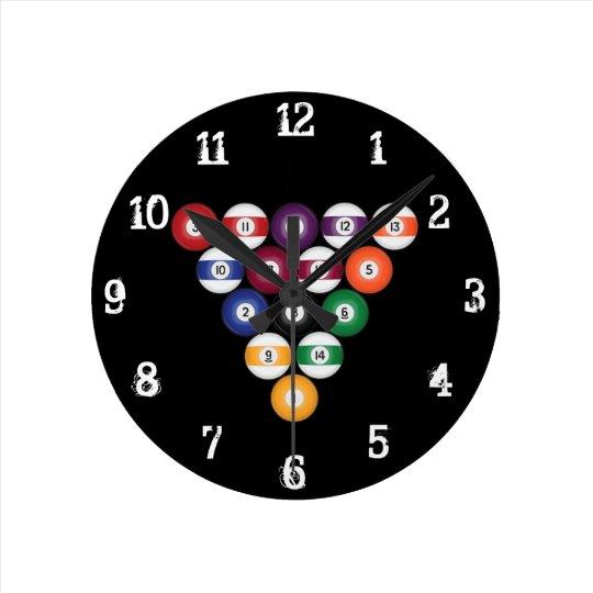 Billiards / Pool Balls: Wall Clock