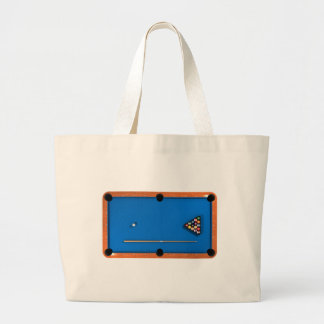 Billiards / Pool Table: Blue Felt: Tote Bag
