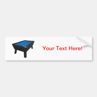Billiards / Pool Table: Blue Felt: Bumper Sticker