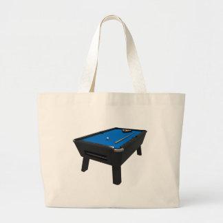Billiards / Pool Table: Blue Felt: Jumbo Tote Bag