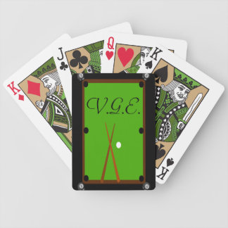 Billiards Pool Table Monogram Poker Deck