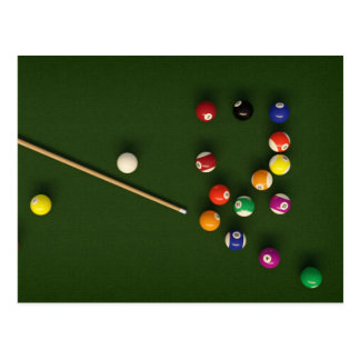 Billiards postcard