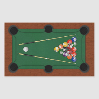 Billiards Rectangular Sticker