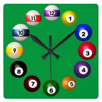 Billiards Room Fun Wall Clocks