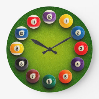 Billiards Snooker Novelty Clock