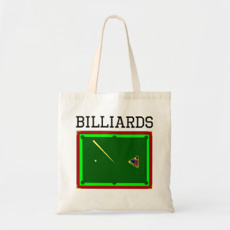 Billiards Table Tote Bags