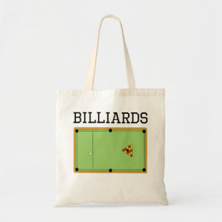 Billiards Table Canvas Bags