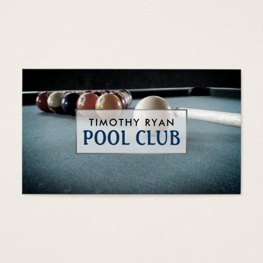 Billiards Table, Pool Club Business Card