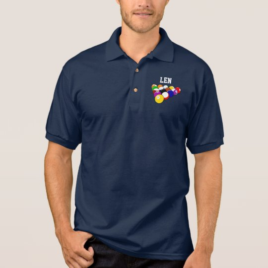 Billiards template polo shirt, ready to customise