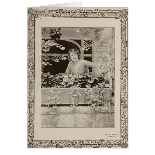 Billie Burke 1919 portrait with flowers silent Card