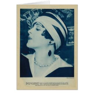 Billie Dove 1925 vintage portrait card