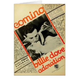 Billie Dove 1928 vintage movie ad card