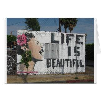 Billie Holiday Street Art Card