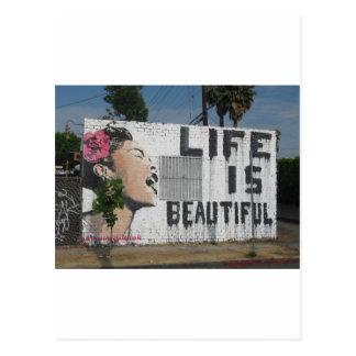 Billie Holiday Street Art Postcard