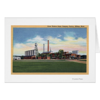 Billings, Montana - Great Western Sugar Company Card