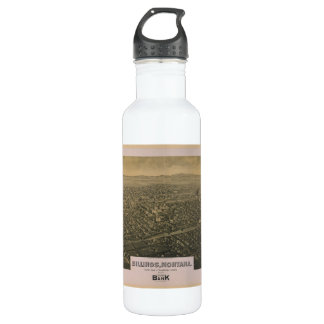 Billings Montana Yellowstone County Map 1904 710 Ml Water Bottle
