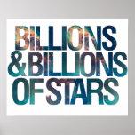 Billions and Billions of Stars Poster