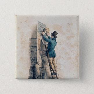 Billposter 15 Cm Square Badge
