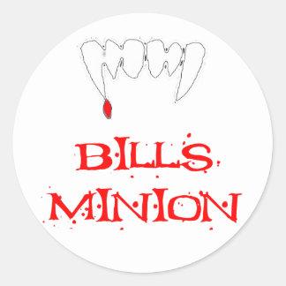 Bills Minion Round Sticker