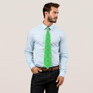Billy Badass Celtic Green Geo Woven Pattern Tie