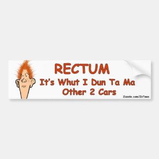 Billy Bob-Rectum Bumper Stickers
