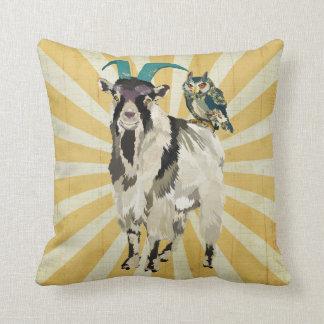 Billy Goat & Owl Mojo Pillow