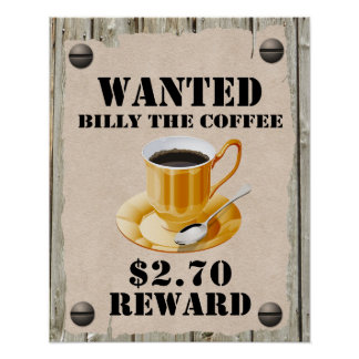 Billy the Coffee Poster