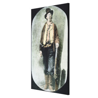 Billy the Kid (coloured engraving) Canvas Print