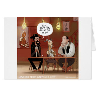 Billy The Kid? Funny Goat Cartoon Greeting Card