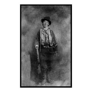 Billy The Kid Outlaw Old West Vintage Photo Posters