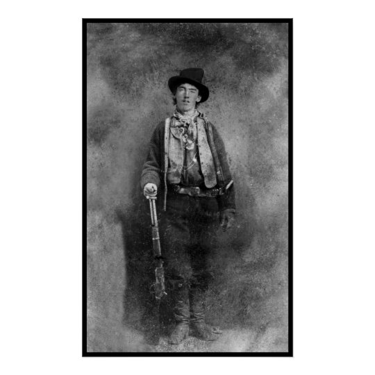 Billy The Kid Outlaw Old West Vintage Photo