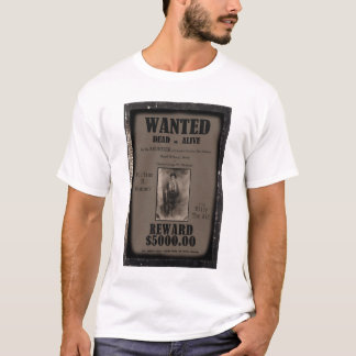 Billy The Kid Wanted Dead or Alive Poster T-Shirt