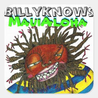 BillyKnows Maui Aloha Square Sticker