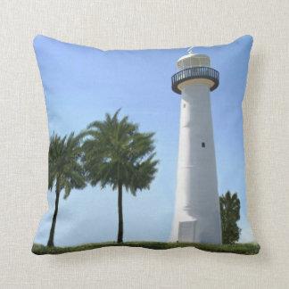 biloxi lighthouse throw pillow
