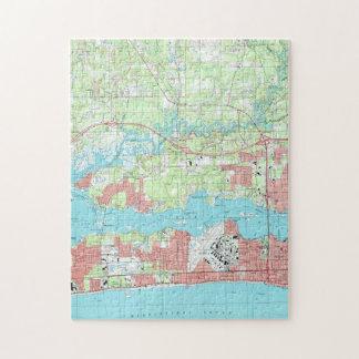 Biloxi Mississippi Map (1992) Jigsaw Puzzle