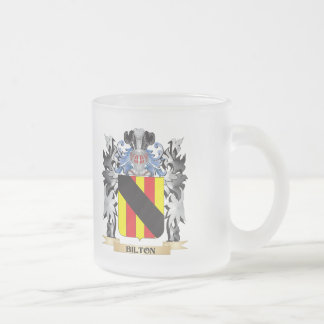 Bilton Coat of Arms - Family Crest Frosted Glass Mug
