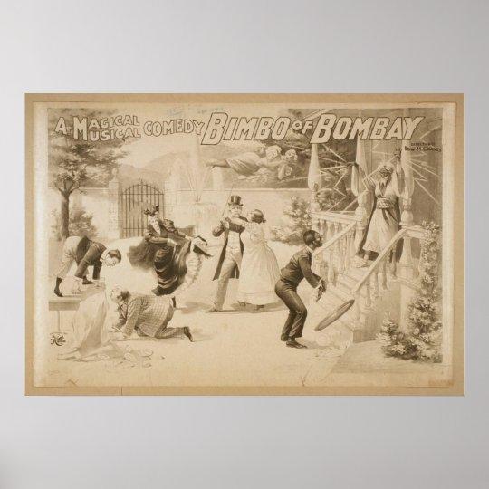 Bimbo of Bombay Vintage Theatre Poster