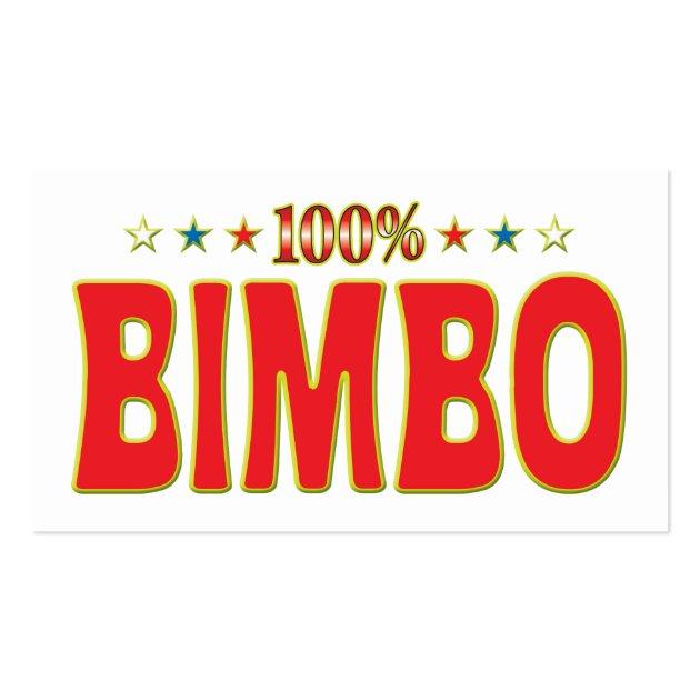 Bimbo Star Tag Business Card