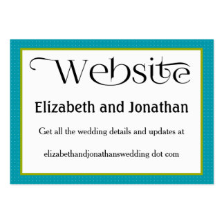 Bimini Blue Polka Dot Wedding Website Card Pack Of Chubby Business Cards