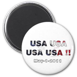 Bin laden dead 2011 6 cm round magnet