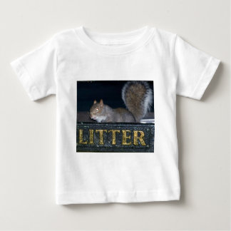 Bin-raid! Cheeky squirrel Baby T-Shirt