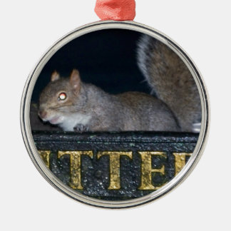 Bin-raid! Cheeky squirrel Christmas Ornament