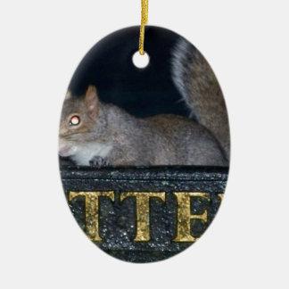 Bin-raid! Cheeky squirrel Christmas Ornament