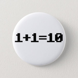 Binary 6 Cm Round Badge