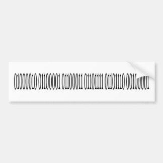 Binary Bacon Bumper Stickers