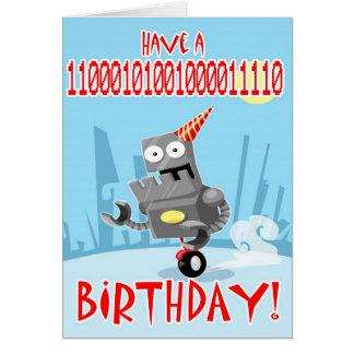 Binary Birthday Greeting Card