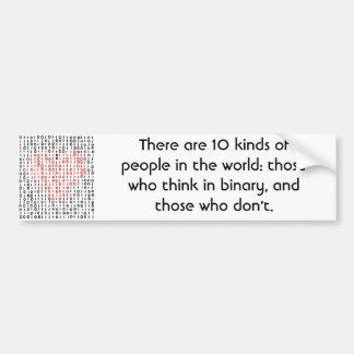 Binary Bumper Sticker