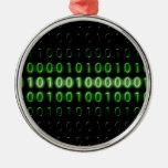 binary-code-475-bi Silver-Colored round decoration