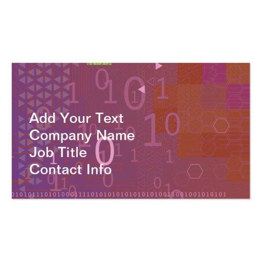 Binary Code Business Card Templates