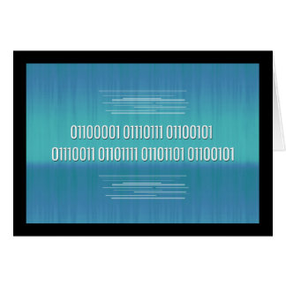 Binary Code for Awesome Birthday Card Greeting Card